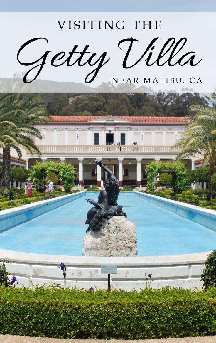 CAs Art   Visiting the Getty Villa near Pacific Palisades (Malibu) in California