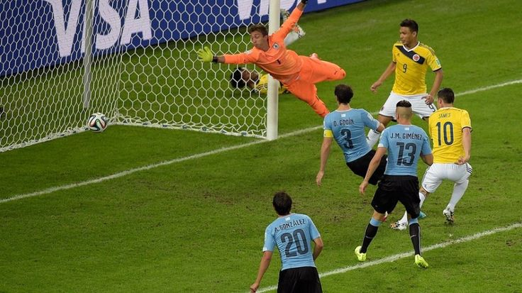 colombia segundo gol de james rodriguez contra uruguay