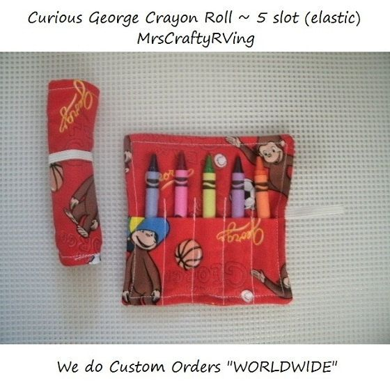 curious george birthday crayon roll party favor curious george