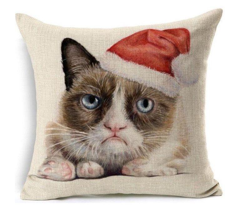 grumpy cat wedding invitations%0A Grumpy Cat Christmas Pillow Case