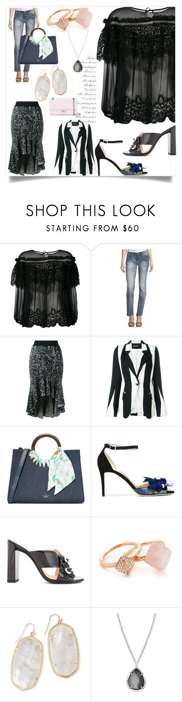 """Modalist Style"" by denisee-denisee ❤ liked on Polyvore featuring Alberta Ferretti, Miss Me, Cecilia Pradomurion, Ann Demeulemeester, Kate Spade, Jimmy Choo, Fendi, Michael Kors, Kendra Scott and Chanel"
