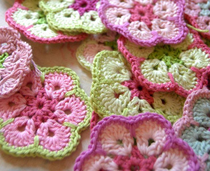African Flower Crochet Free Pattern