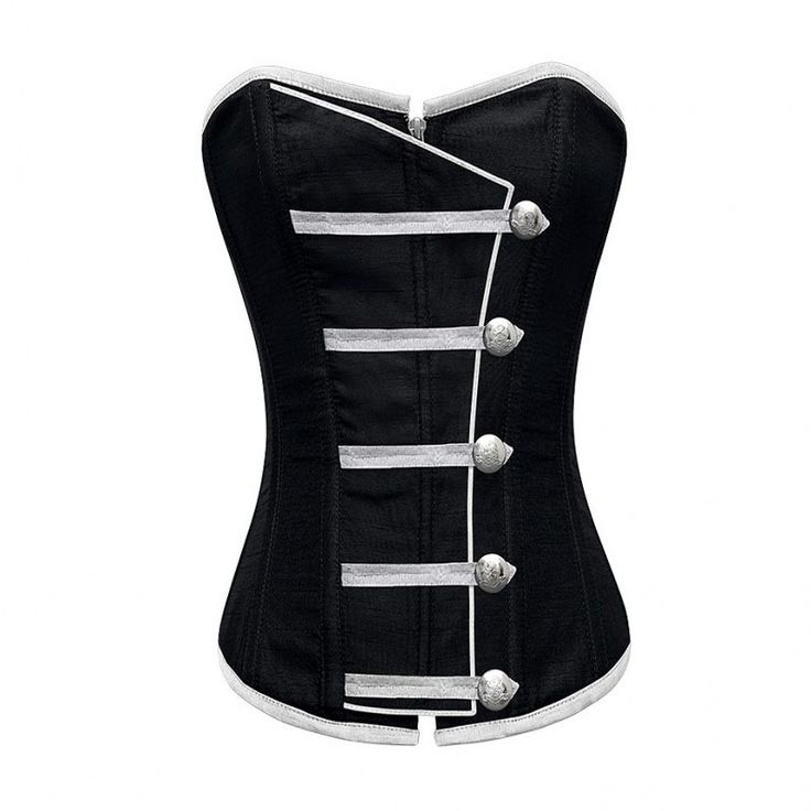 Black Button Down Corset @ Corset-Story.com