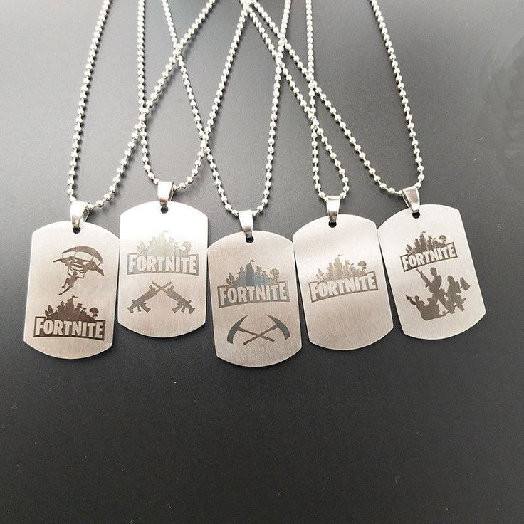 Game Fortnite BattleRoyale Necklace Chains Stainless