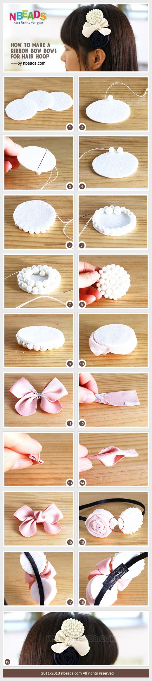How To Make A Ribbon Bow-Bows For Hair Hoop Pictures, Photos, and Images for Facebook, Tumblr, Pinterest, and Twitter