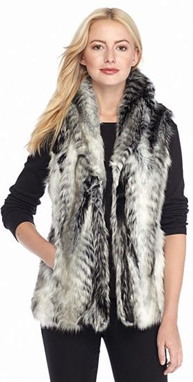 Stay cozy and elegant with this vest! Crafted in a faux fur silhouette, this cooler-weather essential is sure to bring plenty of sophisticated appeal to your look.