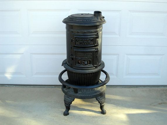 Antique Round Oak No 14 Stove PD Beckwith Dowagiac by MidMod, $249.00
