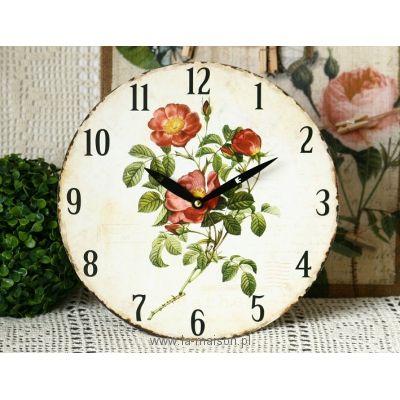 Zegar ścienny Róże