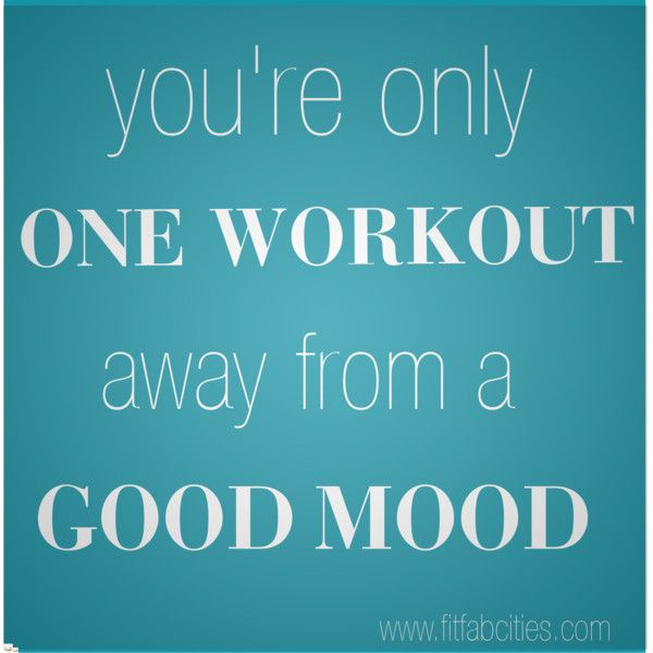 One workout...