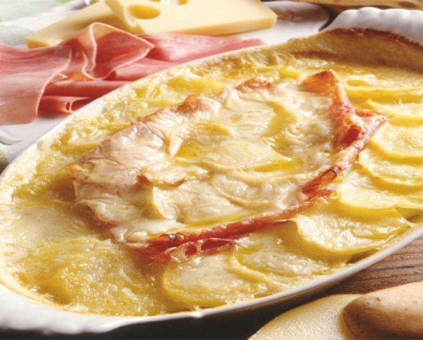 Sformato di patate con formaggio e prosciutto