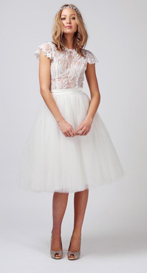 Beautiful Two piece tutu wedding dress by Babushka Ballerina Top wedding dresses under