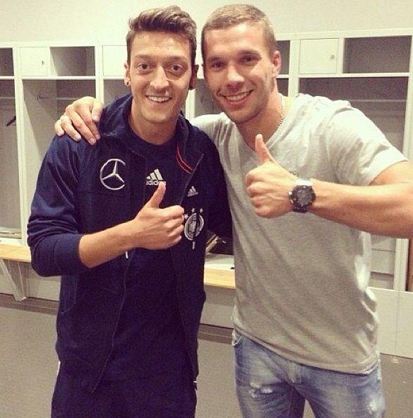 Podolski and Özil, Arsenal