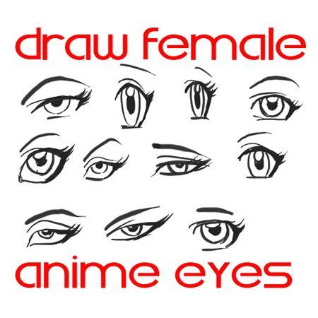 Step drawing female manga eyes Draw Anime Eyes (Females): How to Draw Manga Girl Eyes Drawing Tutorials