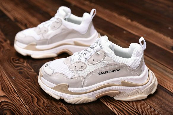 f79ab696e95f Balenciaga Triple S 490671W06F19000 White Light Pink Gold Sneaker Balenciaga  For Sale Big Boys Youth Jeunesse Shoes