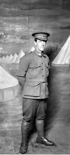 WWI, 27 April 1917, Pt Henry J Delaney was killed in action on the Somme, aged 26. He has no known grave and is commemorated on the Villers-Bretonneux Memorial. - AWM DA15130