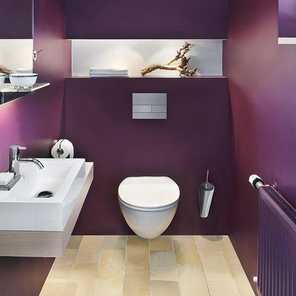 Badezimmer Fliesen Welche Farbe Images In 2020 Badezimmer Streichen Lila Badezimmer Schoner Wohnen Farbe