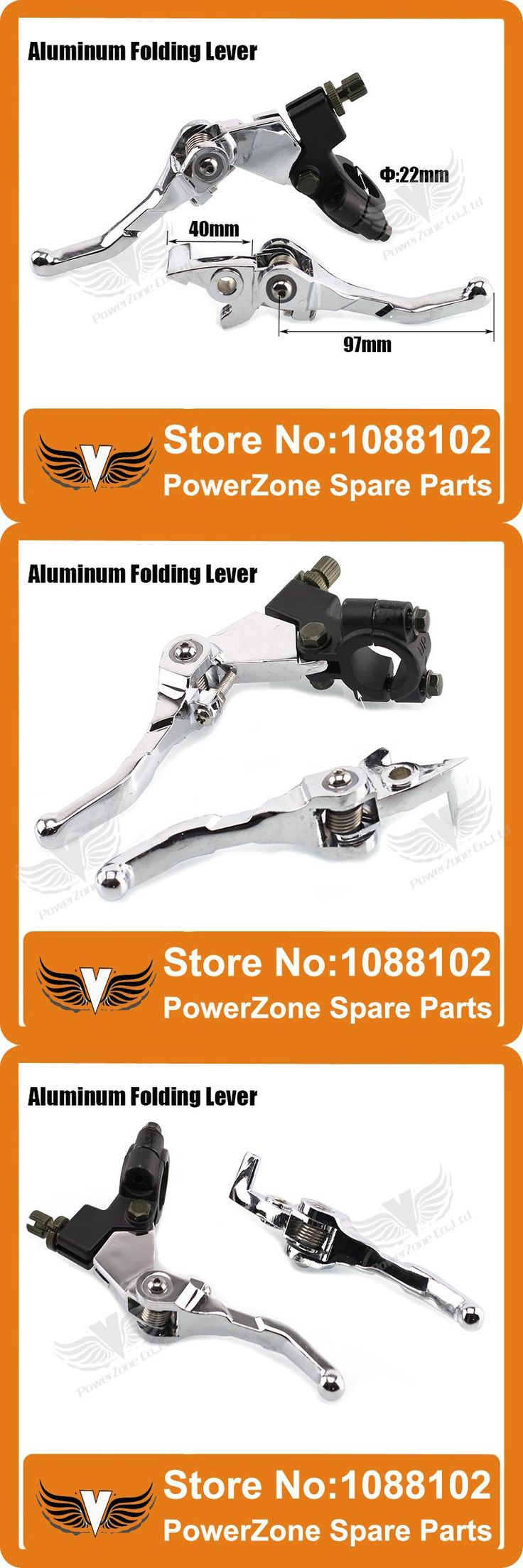 [Visit to Buy] Aluminum Folding Clutch lever Brake Lever Fit CRF IRBIS Apollo Xmotos KAYO  BSE Pit Dirt Bike Parts Free Shipping! #Advertisement