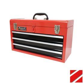 Homak 20.5-in 3-Drawer Lockable Red Steel Tool Box