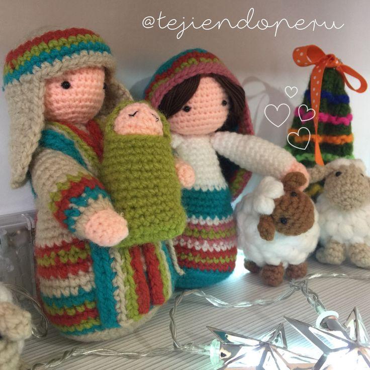 Nacimiento tejido a crochet paso a paso! Amigurumi Nativity. José, María, el Niño y las ovejas!