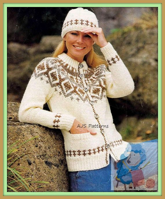 Knitting Pattern For Ladies Chunky Hat : 17 Best images about KOFTER / GENSERE on Pinterest Jumpers, Fair isles and ...