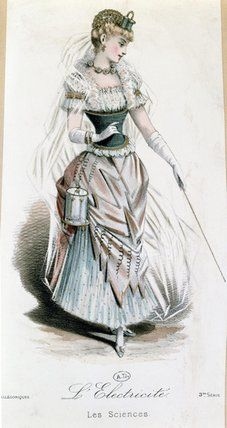 "Another ""Technology"" Fancy Dress costume: Electricity.  ""L'Electricite  Les Sciences"""