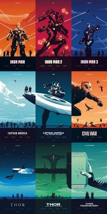 These Marvel posters – Loki