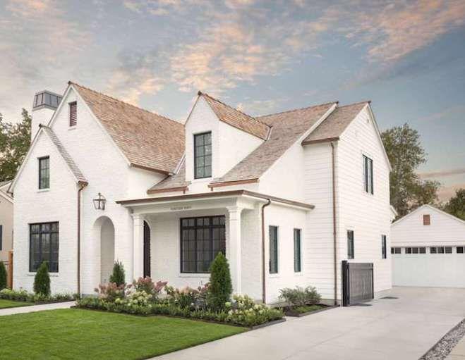 Design Crush The Fox Group Home Exteriorsbecki Owens White Brick Houses House Exterior Brown Roofs