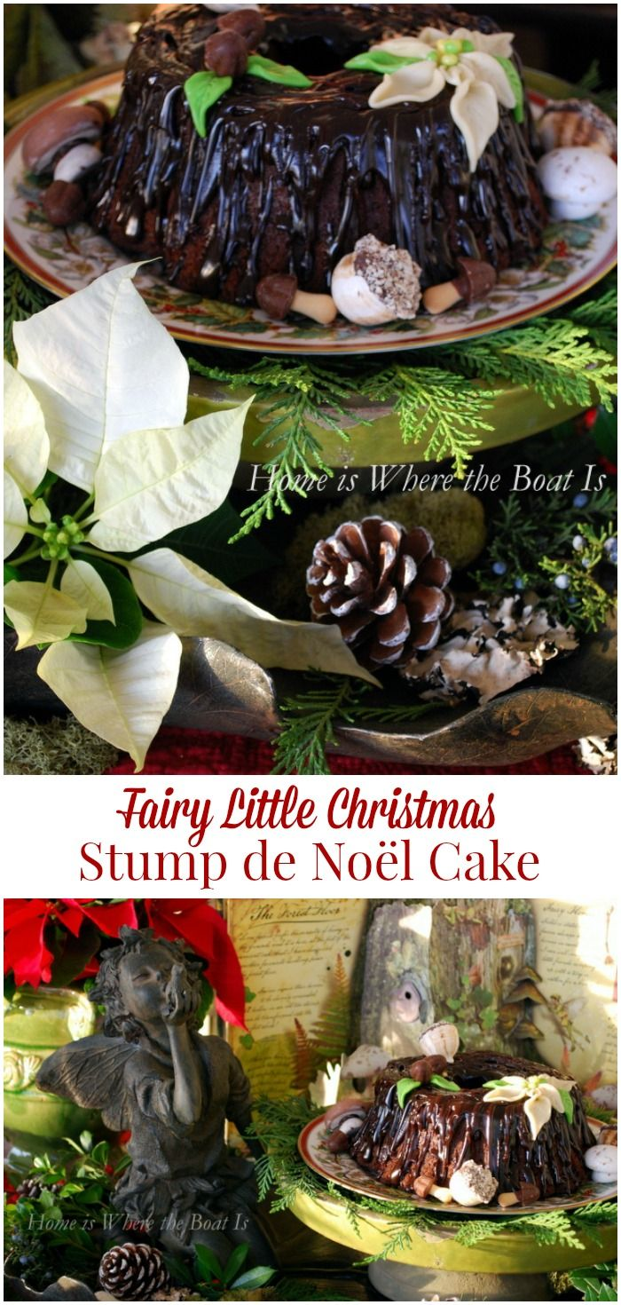 Fairy Little Christmas Stump de Noel Cake