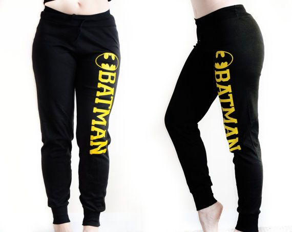 Hey, I found this really awesome Etsy listing at https://www.etsy.com/listing/189858330/batman-comic-black-yellow-sweatpants