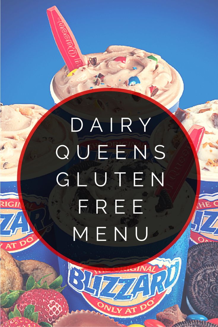 Dairy Queens Gluten Free Menu #glutenfree