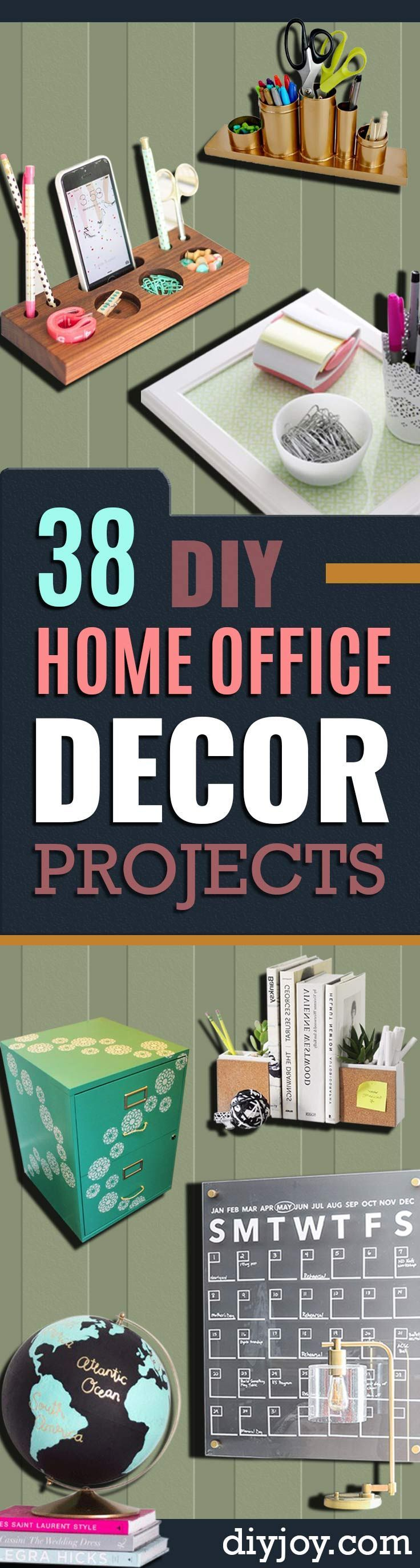 1000 ideas about home office decor on pinterest home for Diy office accessories