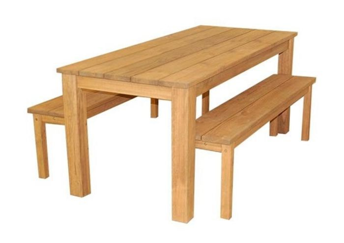 Set Ferme en pin 1 table | mobilier jardin | Mobilier jardin ...