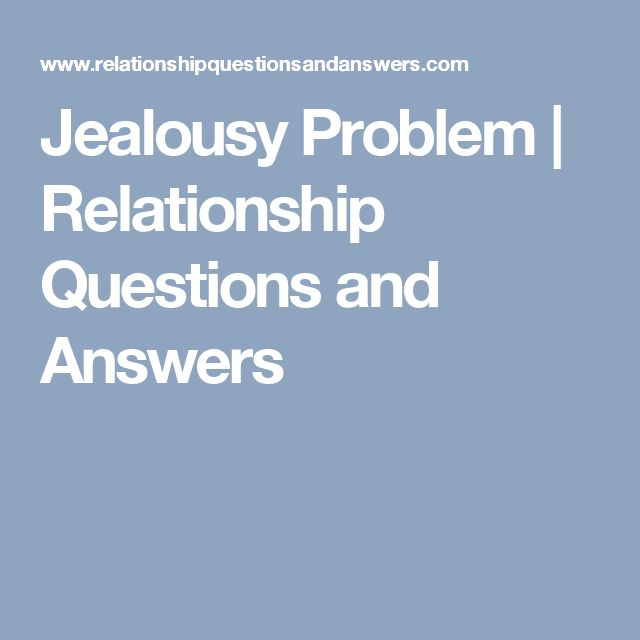 questions about relationship problems