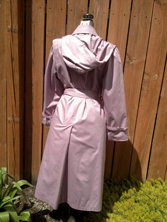 London Fog Lilac /Lavender Ladies Raincoat by MidnightThrifting
