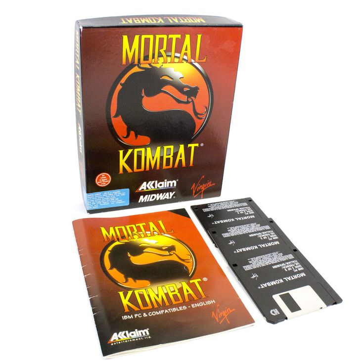 Mortal Kombat for PC by Midway Games, Big Box, 1992, Action, Fighting, Arcade