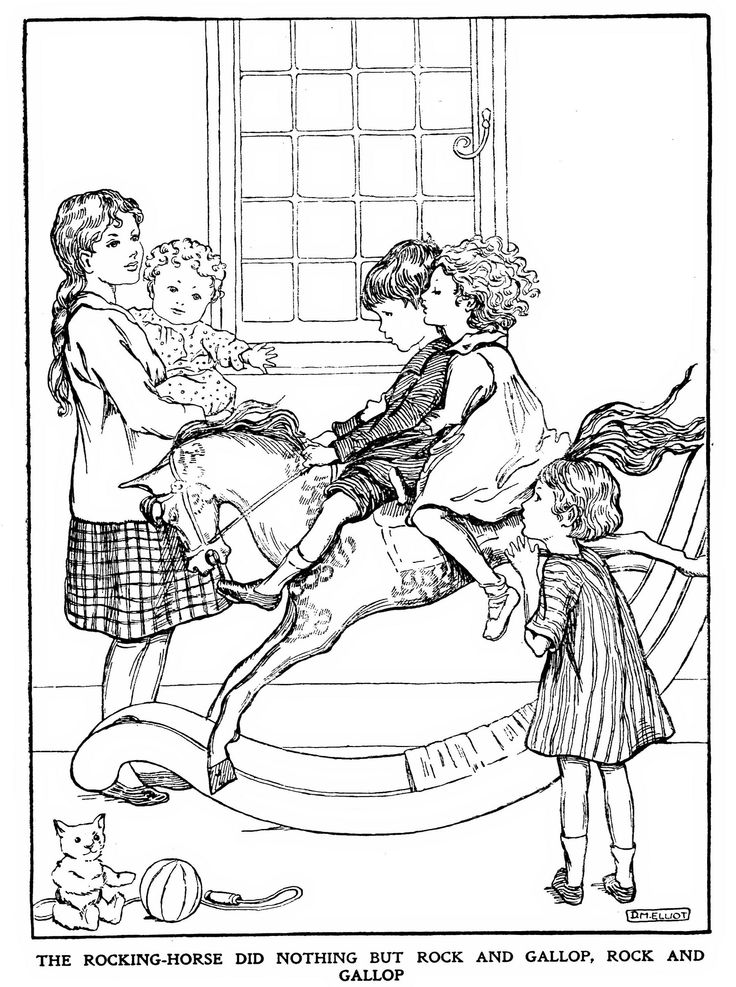 the nursery rocking horse flickr photo sharing - Baby Rocking Horse Coloring Pages