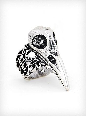 Baroque Bird Skull Ring | PLASTICLAND $25