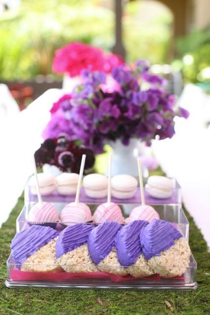 Pretty Rice Krispie Treats for a Sofia the First Birthday Party ...