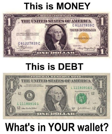 Image result for federal reserve note vs dollar