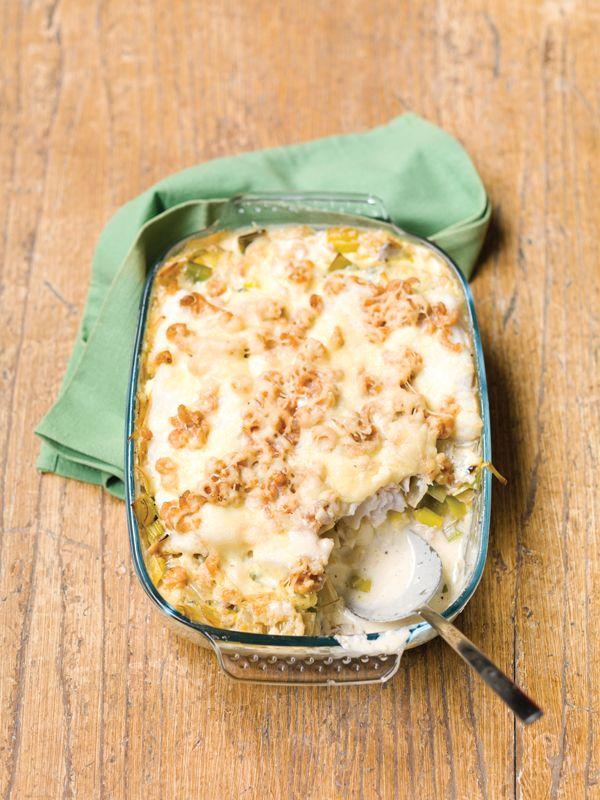 Preischotel met aardappel puree & kabeljauw
