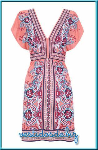 vestidos-de-verano-blanco-estampado-pañuelo-tunicas-etnico-hippie-chic-modernos-baratos-holgados-para-gorditas