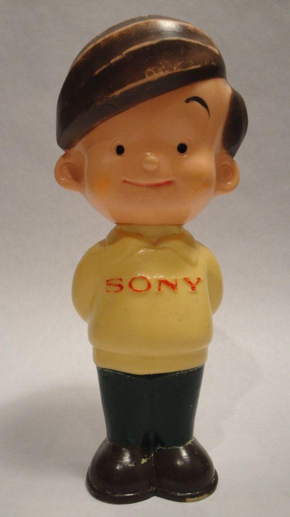 Vintage Sony Boy Sony Corp Advertising Mascot by Lifeinmommatone, $65.00