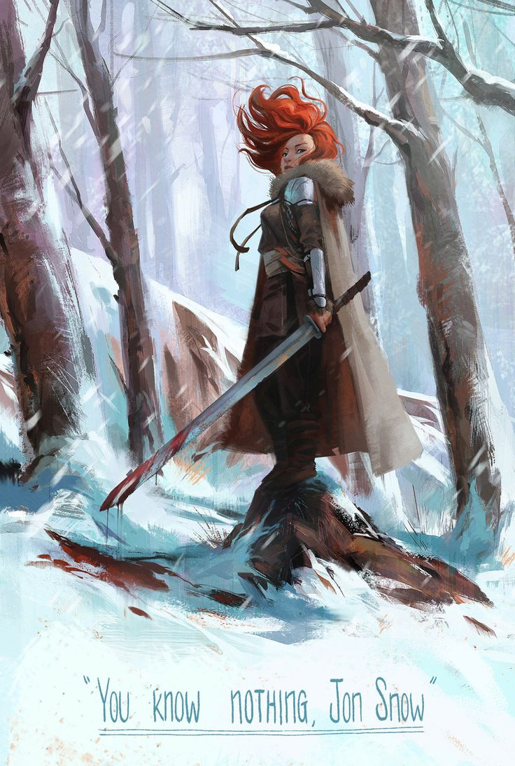 """You know nothing, Jon Snow"" Ygritte, kissed by the fire. (by Mingjue Helen Chen)"