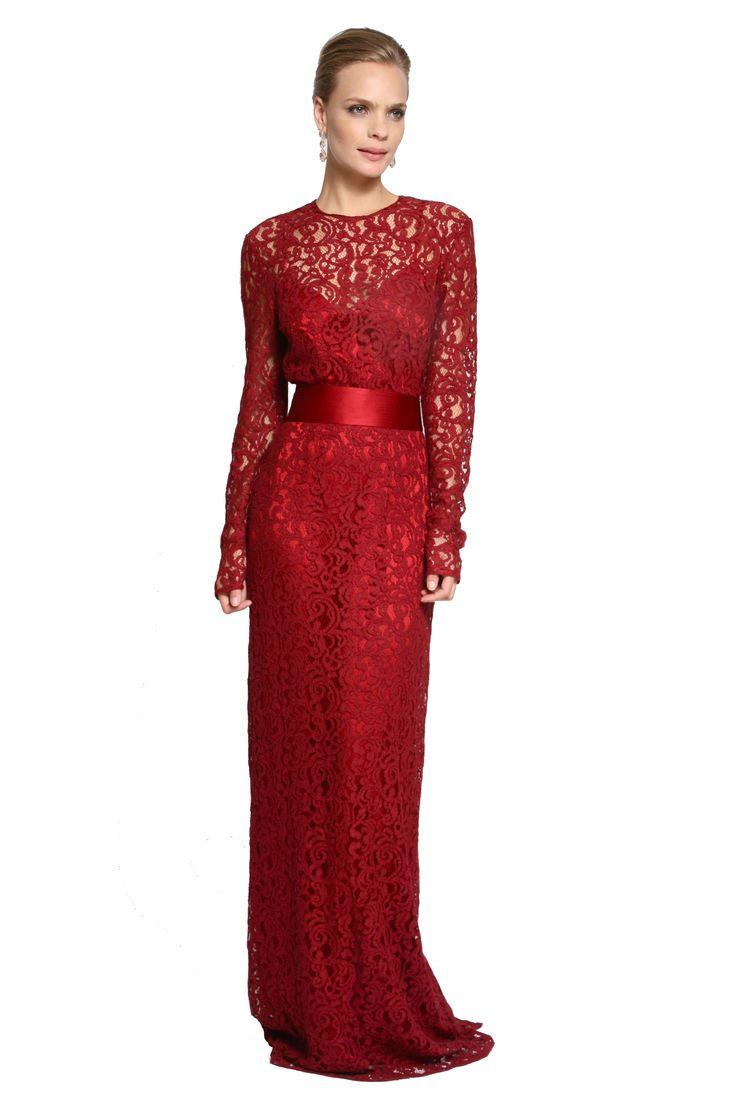 Dress & Go - Aluguel de vestidos de grandes estilistas | Vestido Renda Arabesc Burgundy