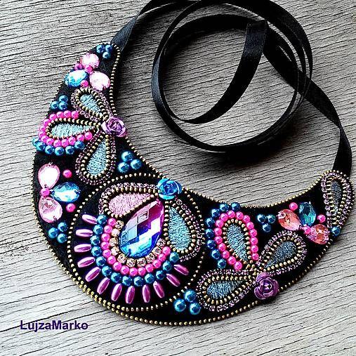 LujzaMarko / Purple and pink náhrdelník