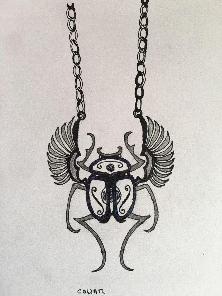 12.Diseña tu propia colección. Final collar. Realizado con lápices de grafito, pluma y bolígrafo azul.