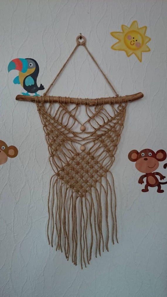 Macrame hangings della parete, macrame driftwood, attaccatura di parete, macrame driftwood, Homo arredamento, boho arredamento, decorazione della parete, speciali decorazioni per la casa, decorazione