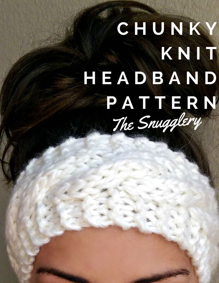 Chunky Cable Knit Headband | The Snugglery | A Place for Yarn Lovers