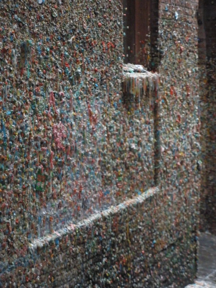 Gum Wall - Seattle WA it's really a cool thing to see