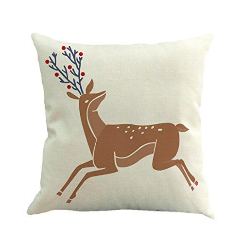 tiean happy christmas linen throw pillow case cushion cover home sofa decor new 45cm45cm h read more reviews of the product by visiting the link on the